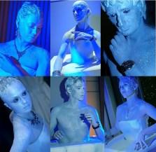 Eis Bodypainting Skulpturen
