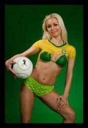 Fussball Bodypainting Fotoshooting 2