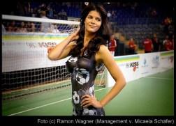 Fussball Bodypainting Kleid