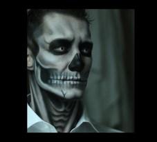Halloween Facepainting Skull Totenkopf