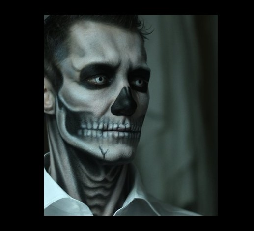 Halloween Facepainting Skull 2