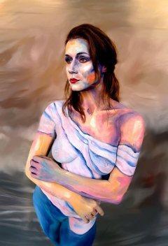 Living Art Bodypainting Modern Art künstlerisch 1