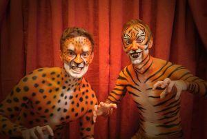 Tiger Gepard Bodypainting