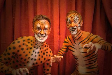 Tiger Gepard Event Bodypainting