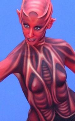 Bodypainting Alien 2008 Österreich