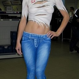 Bodypaint Jeanslook