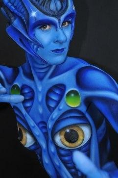 Bodypainting Alien 2012