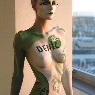 Bodypainting Decix Fotoshooting