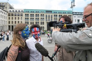 Facepainting Brexit Flagge 1