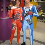 Messe Bodypainting Promotion Kinetixx