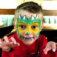 Drachen Kinderschminken Facepainting vom Profi