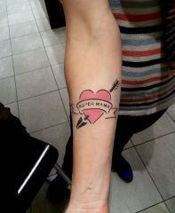 Airbrush Tattoo Herz im KDW