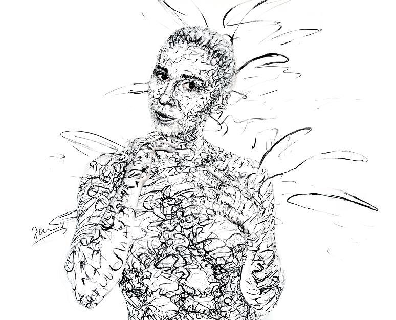 Scribble Art Bodypainting