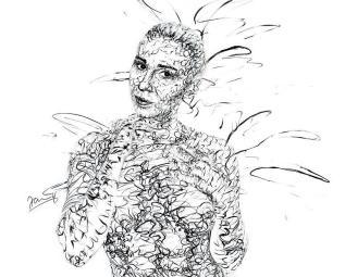 Scribble Art Bodypainting künstlerisch