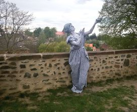 Bodypainting Statue Hundisburg (1)