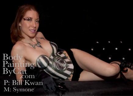 Steampunk paint & glitter 'bone' corset