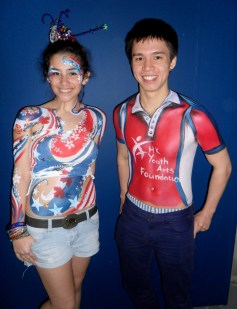 Quick body art painted at Hong Kong Rugby 7s