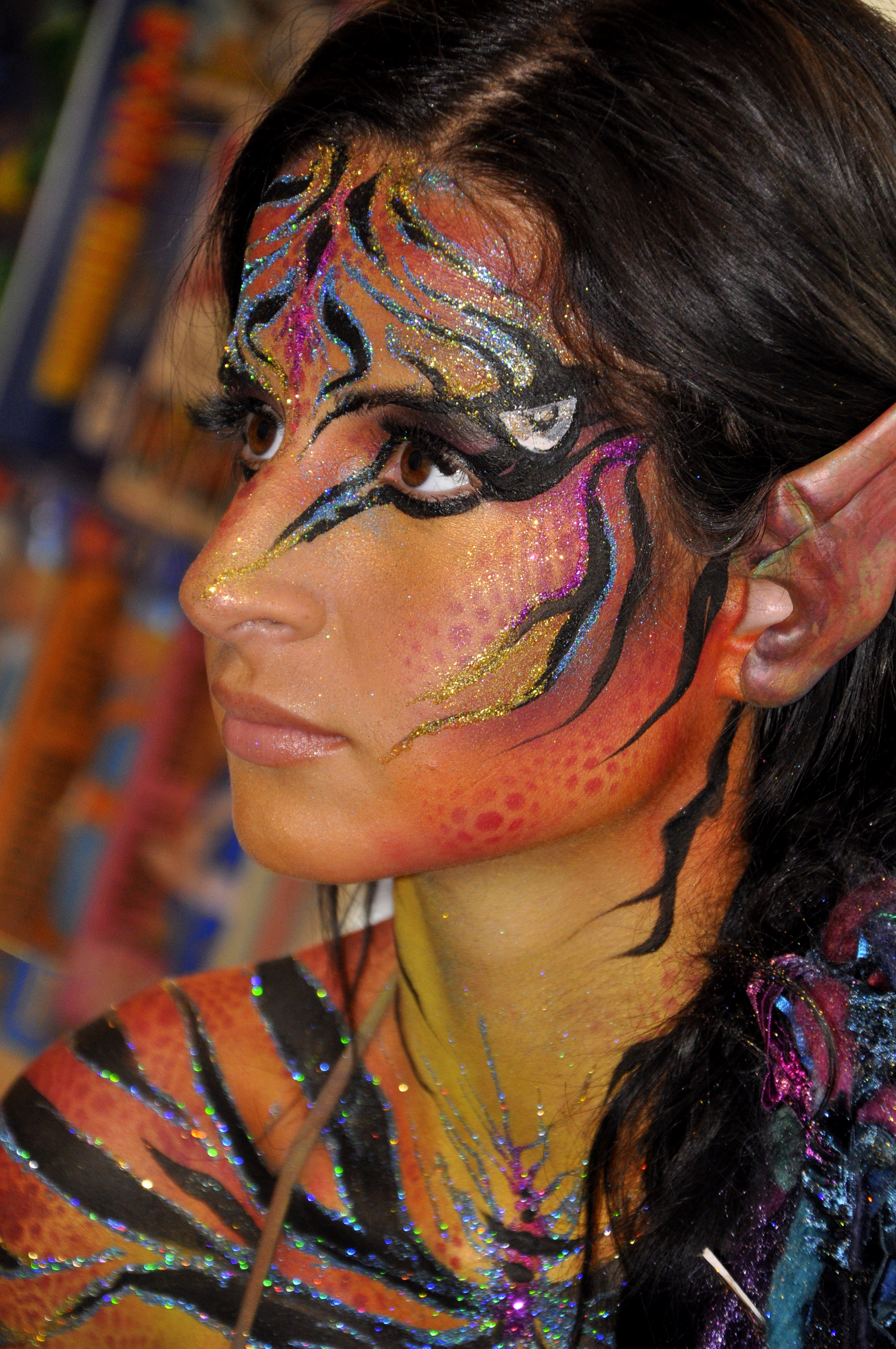 Animals Body Painting By Cat