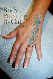 Hen Party glitter tattoo