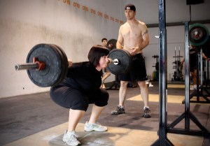 A very old picture of me doing a back squat!