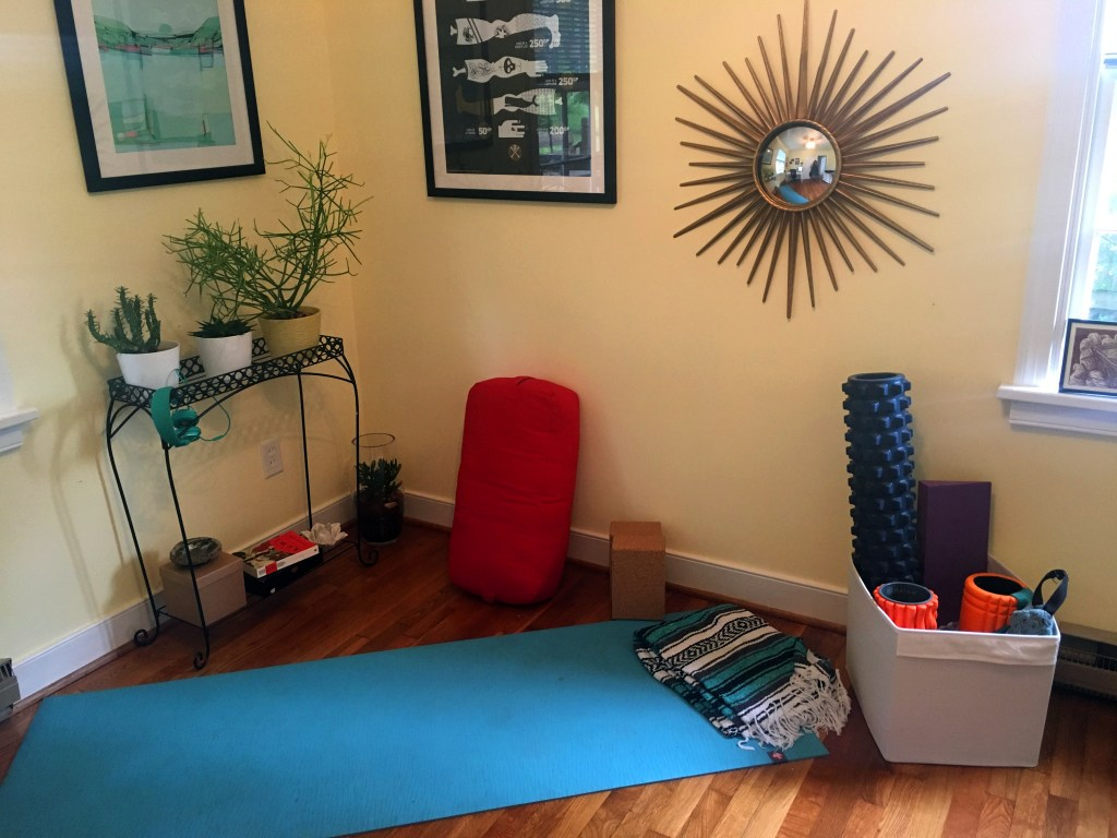 My home yoga studio