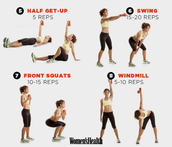 Fat Burning Kettlebell Exercises: 8 Kettlebell Workouts To Tone Muscles And Burn Fat