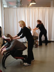 on-site chair massage employee appreciation health fairs corporate wellness tradeshows