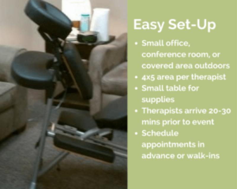 buffalo corporate chair massage workplace