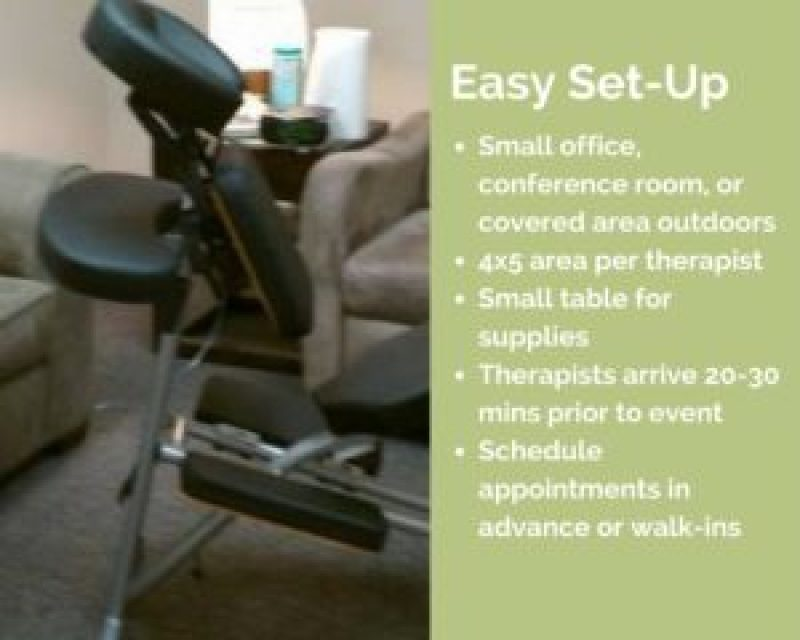 milwaukee corporate chair massage workplace