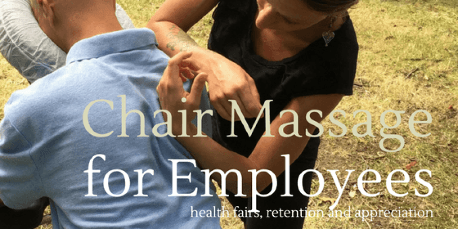 corporate chair massage workplace massage