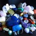 variety of tumbled stones and crystals