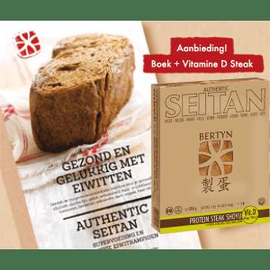Bertyn Promo! Receptenboek + Proteïne Steak Shoyu Vitamine D, bio
