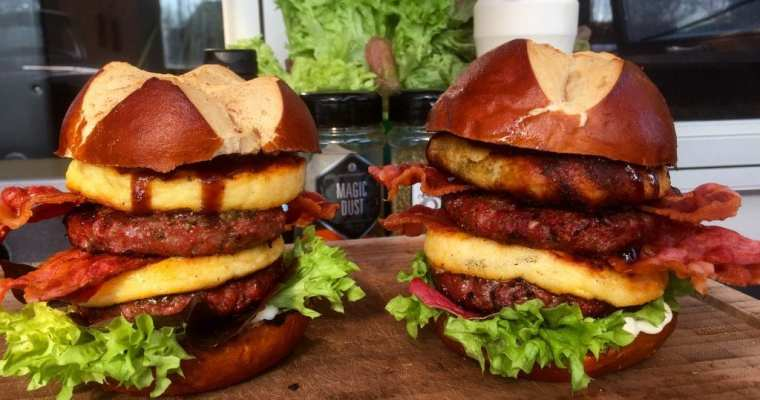 Dobbelt Cheese Coin Burger