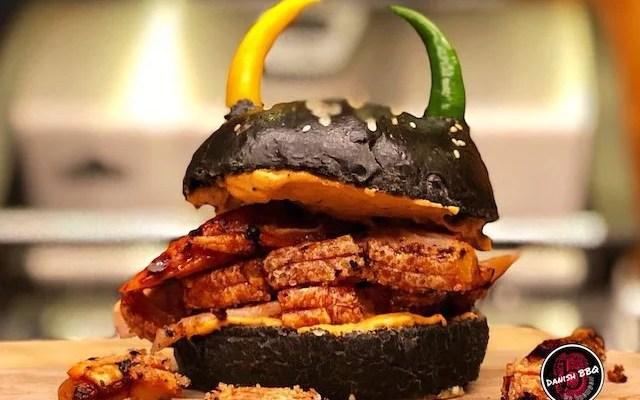Black Chili Viking Burger – Valhalla Burger, ikke stærkt!