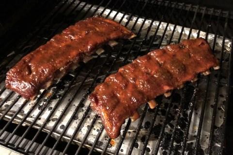 Kalve Ribben frisk penslet med BBQ Sauce