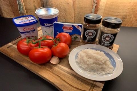 Ingredienser til fyldte tomater