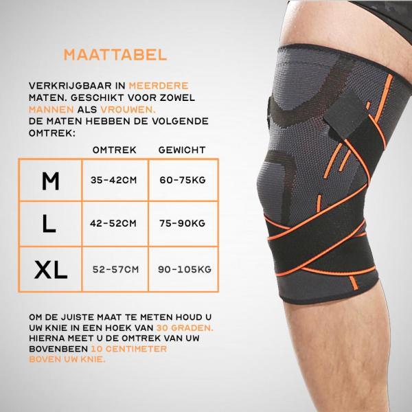 Boersport - ultra elastische kniebrace 2
