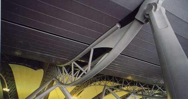 Detail Space Beam pada penyangga