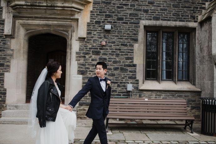 Toronto wedding photographer + Couple portrait + University of Toronto