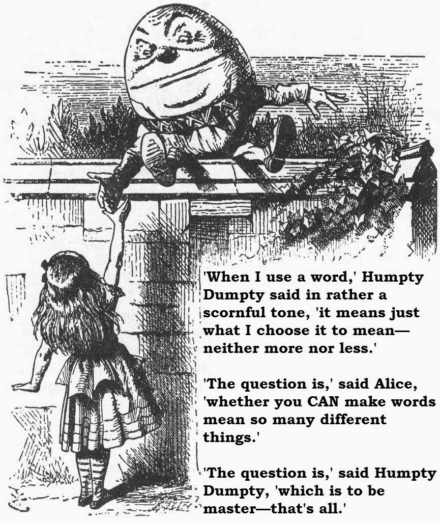 Meaning according to Humpty Dumpty