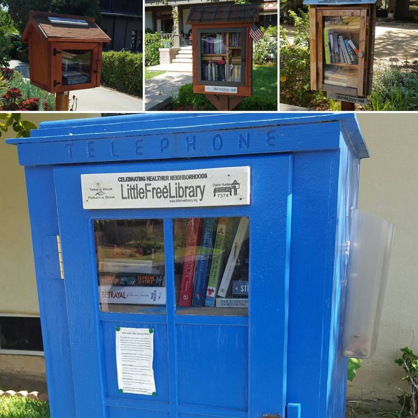 My tour of some nearby Little Free Libraries this morning