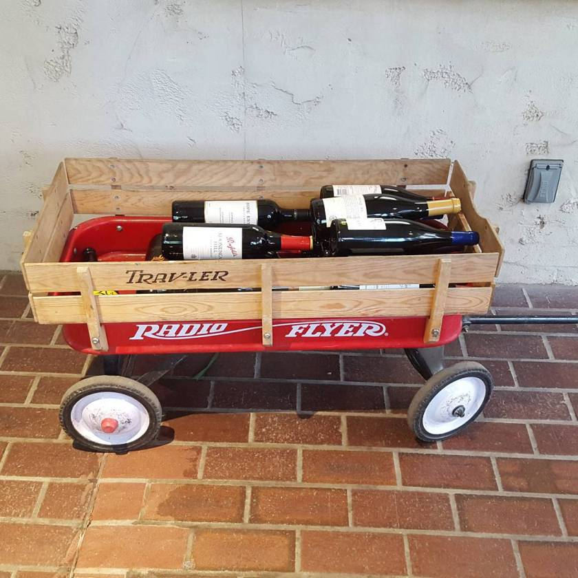 You know there's a lot of wine for cocktails tonight when it needs its own transportation. <a href='https://boffosocko.com/tag/littleredwagon/' rel='tag' data-recalc-dims=