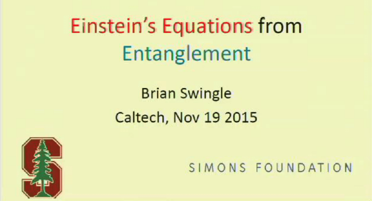 Einstein's Equations From Entanglement