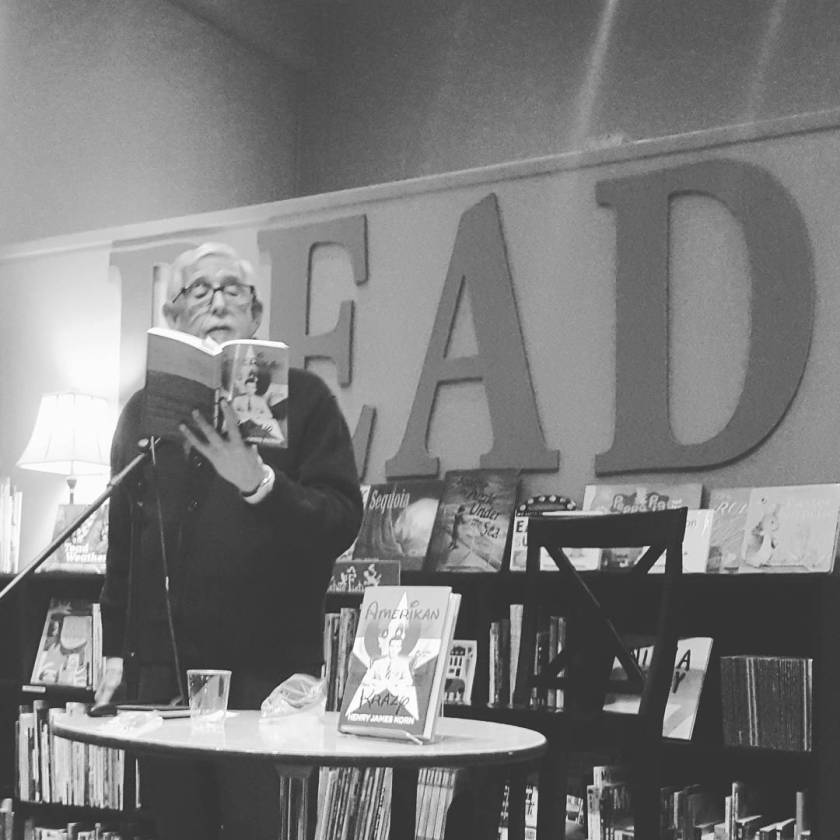 @henryjameskorn reading from #AmerikanKrazy.  #latergram