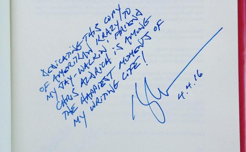 Inscription in my copy of Amerikan Krazy