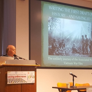Peter Arnett talking about news reporting in Vietnam in  60s.