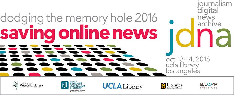 Twitter List for #DtMH2016 Participants | Dodging the Memory Hole 2016: Saving Online News