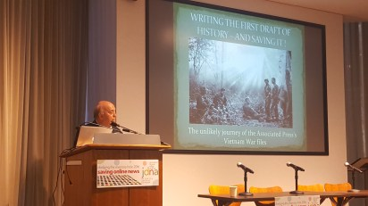 Special guest speaker: Saving the first draft of history: The unlikely rescue of the AP's Vietnam War files Peter Arnett, winner of the Pulitzer Prize for journalism