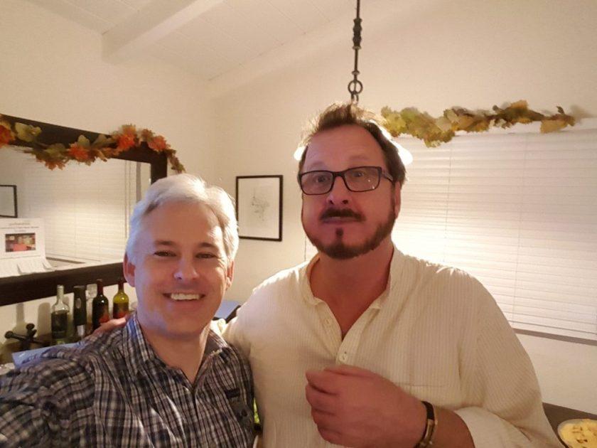 Chris Aldrich, steward of LFL #8424, meets Todd Bol (right), steward of LFL #1.