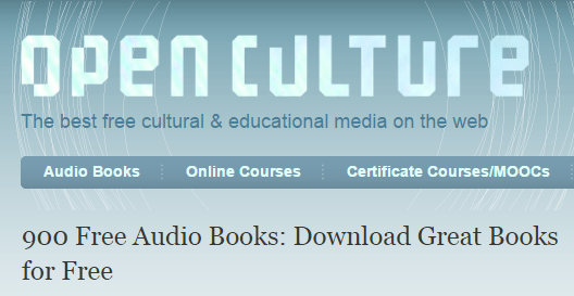 🔖 900 Free Audio Books: Download Great Books for Free |  Open Culture